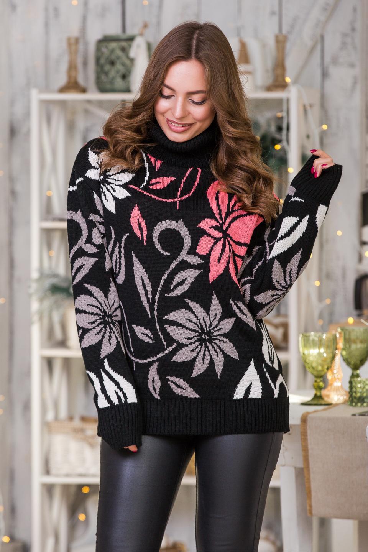 Брендовый теплый повседневный женский свитер