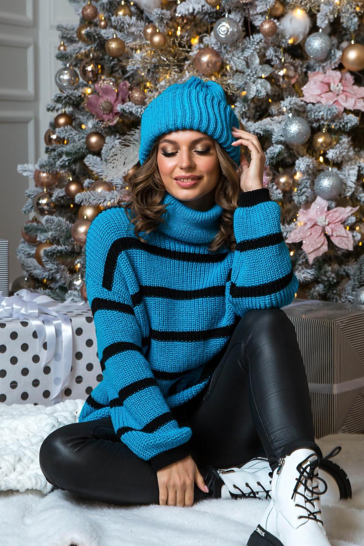 Классный теплый свитер-оверсайз