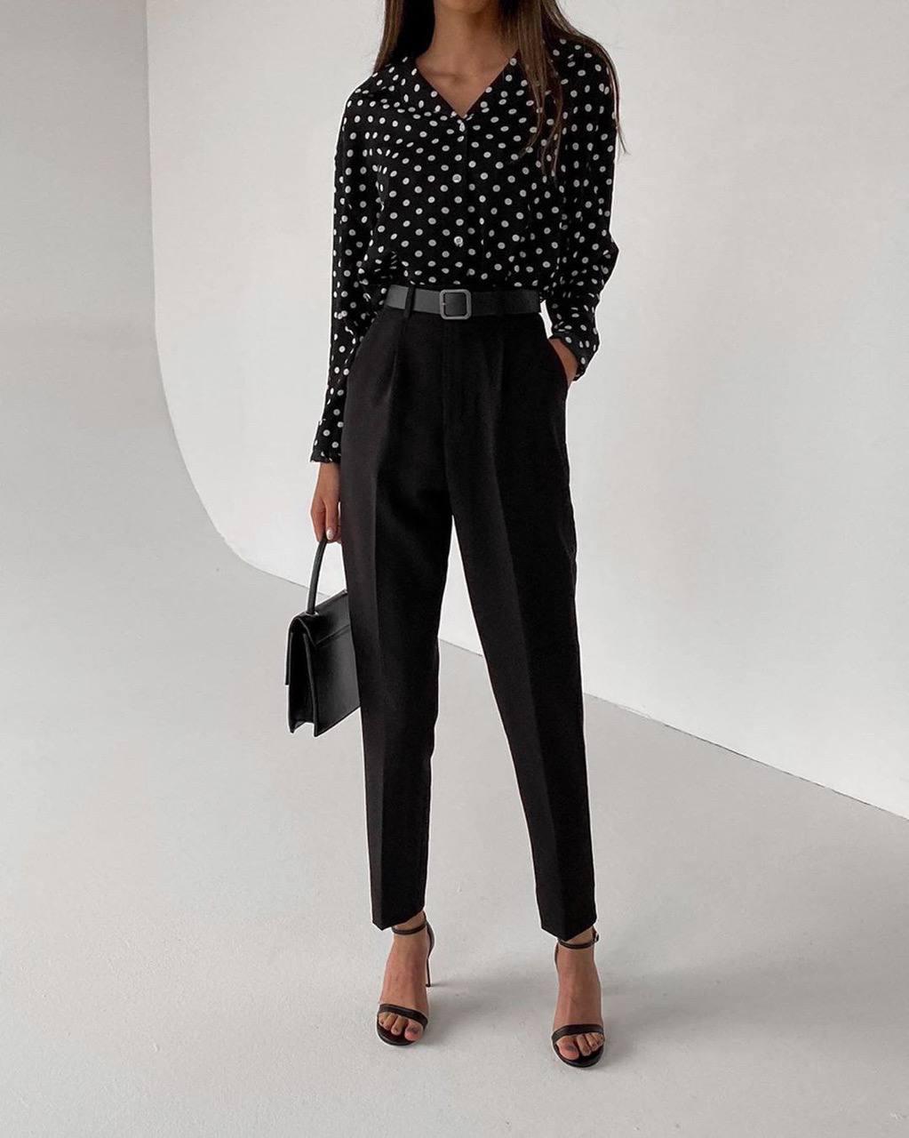 Стильный деловой костюм для женщин брюки+рубашка ...