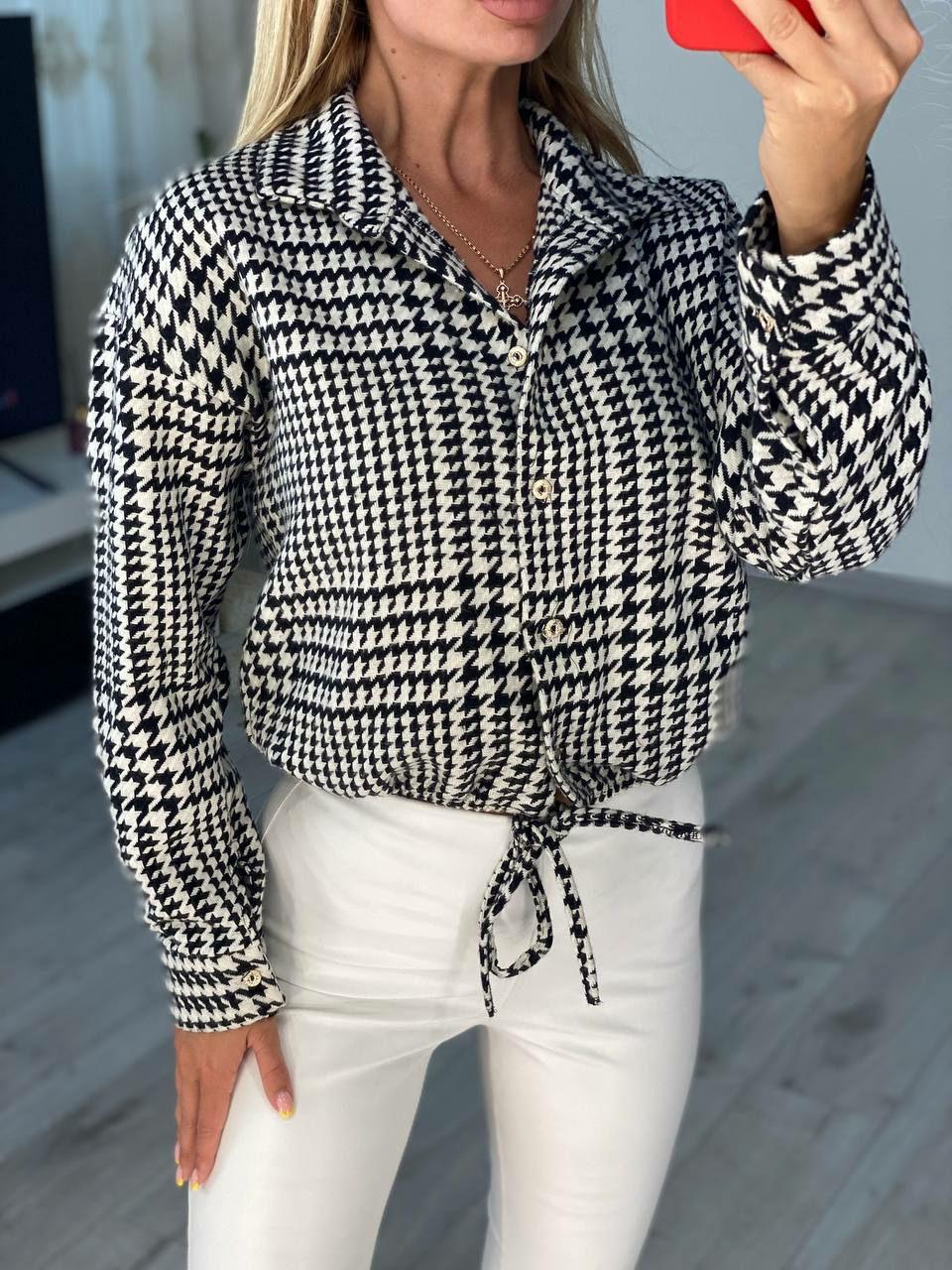 Удобная красивая рубашка на каждый день с длинным ...