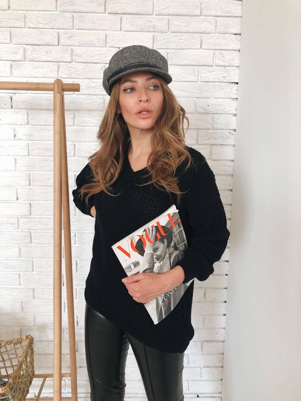 Стильный женский свитер-туника
