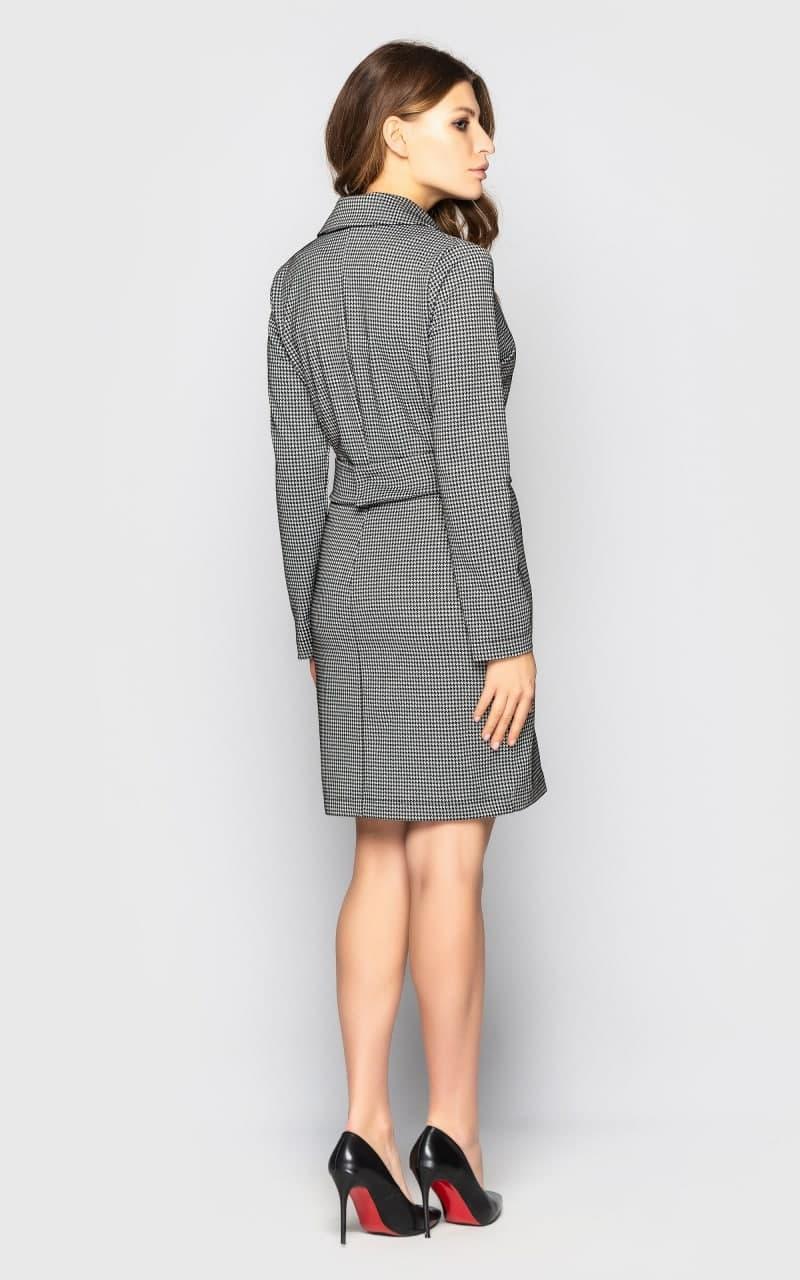 Шикарное женское платье пиджак с поясом