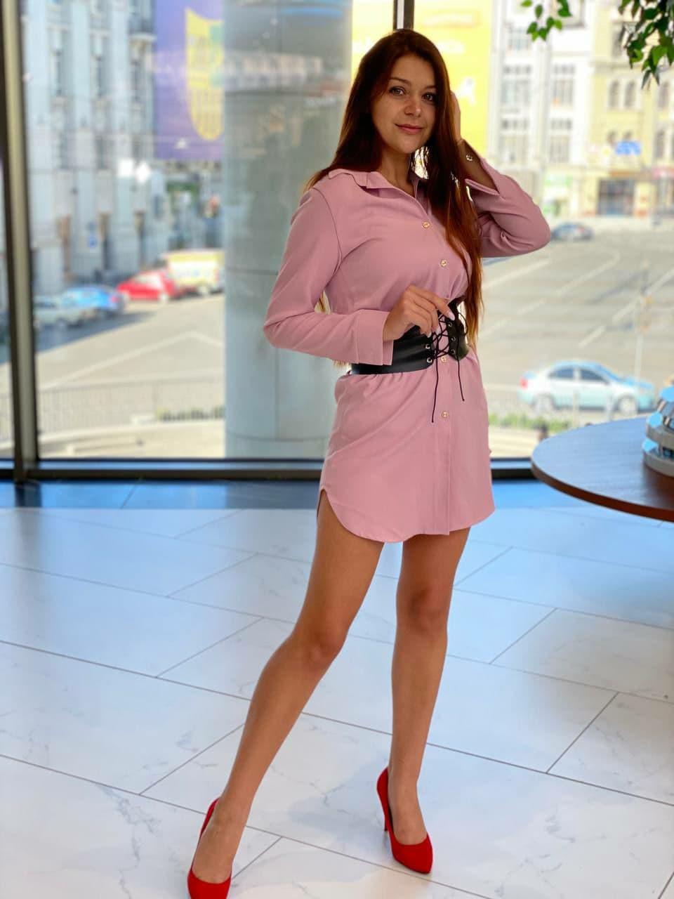 Сексуальное женское платье рубашка с корсетом пояс ...