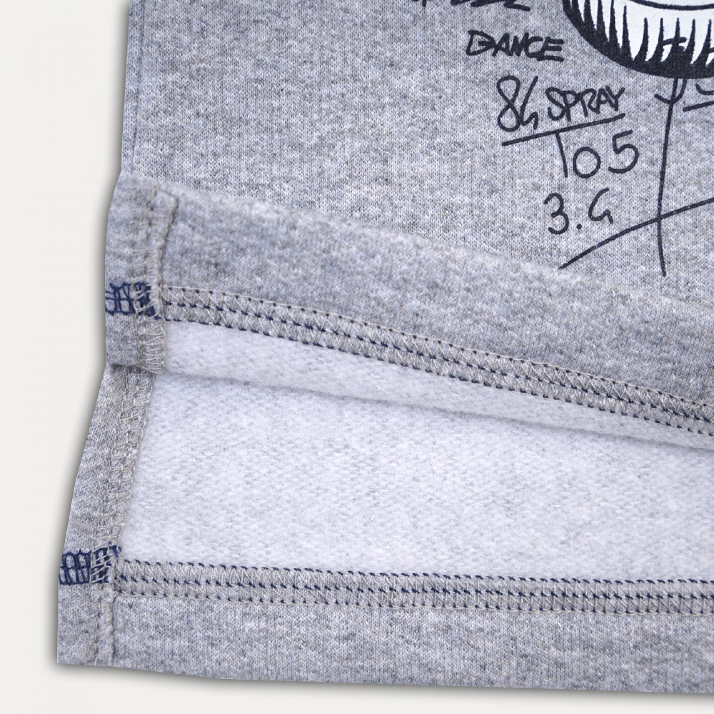 Стильный серый джемпер для мальчика с начесом