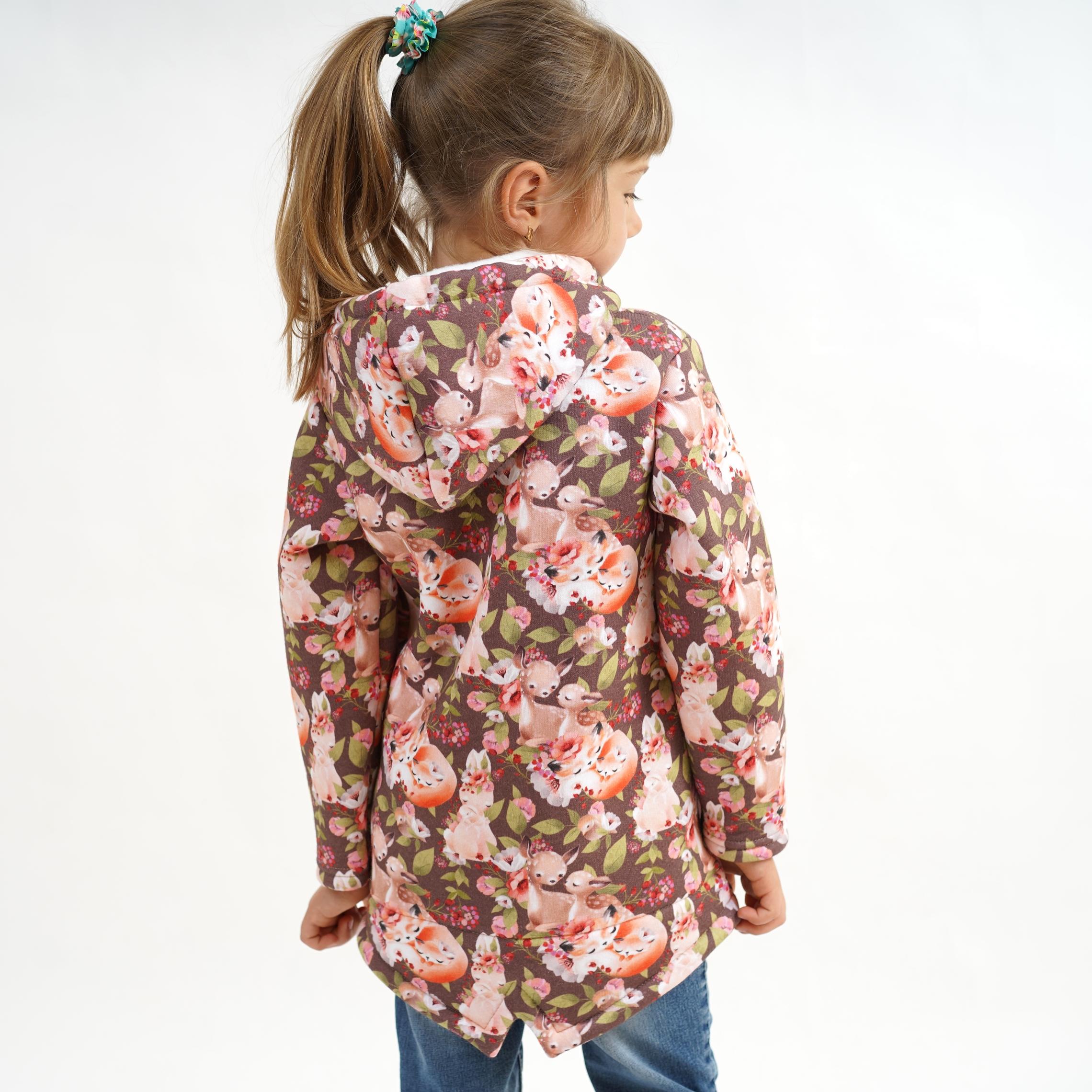 Модная детская курточка с капюшоном для девочек