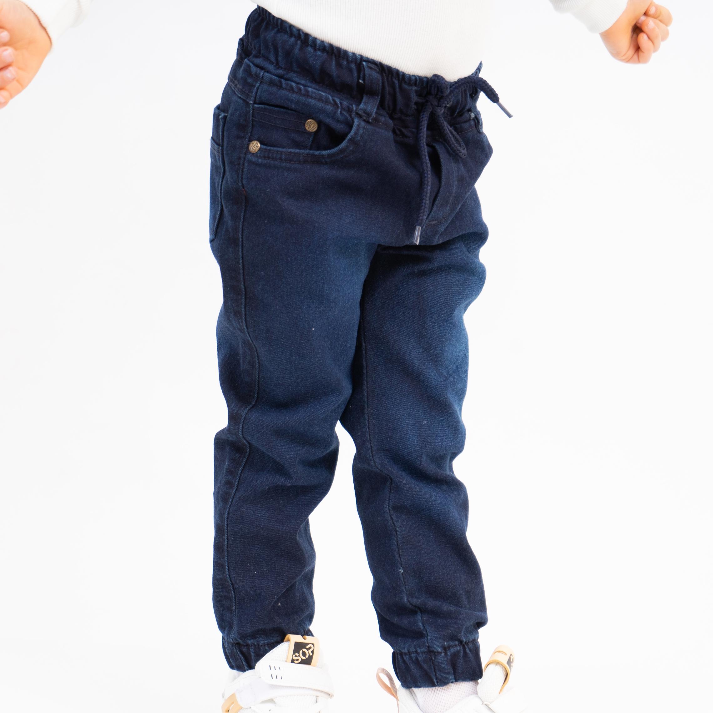 Оригинальные красивые синие джинсы для мальчика