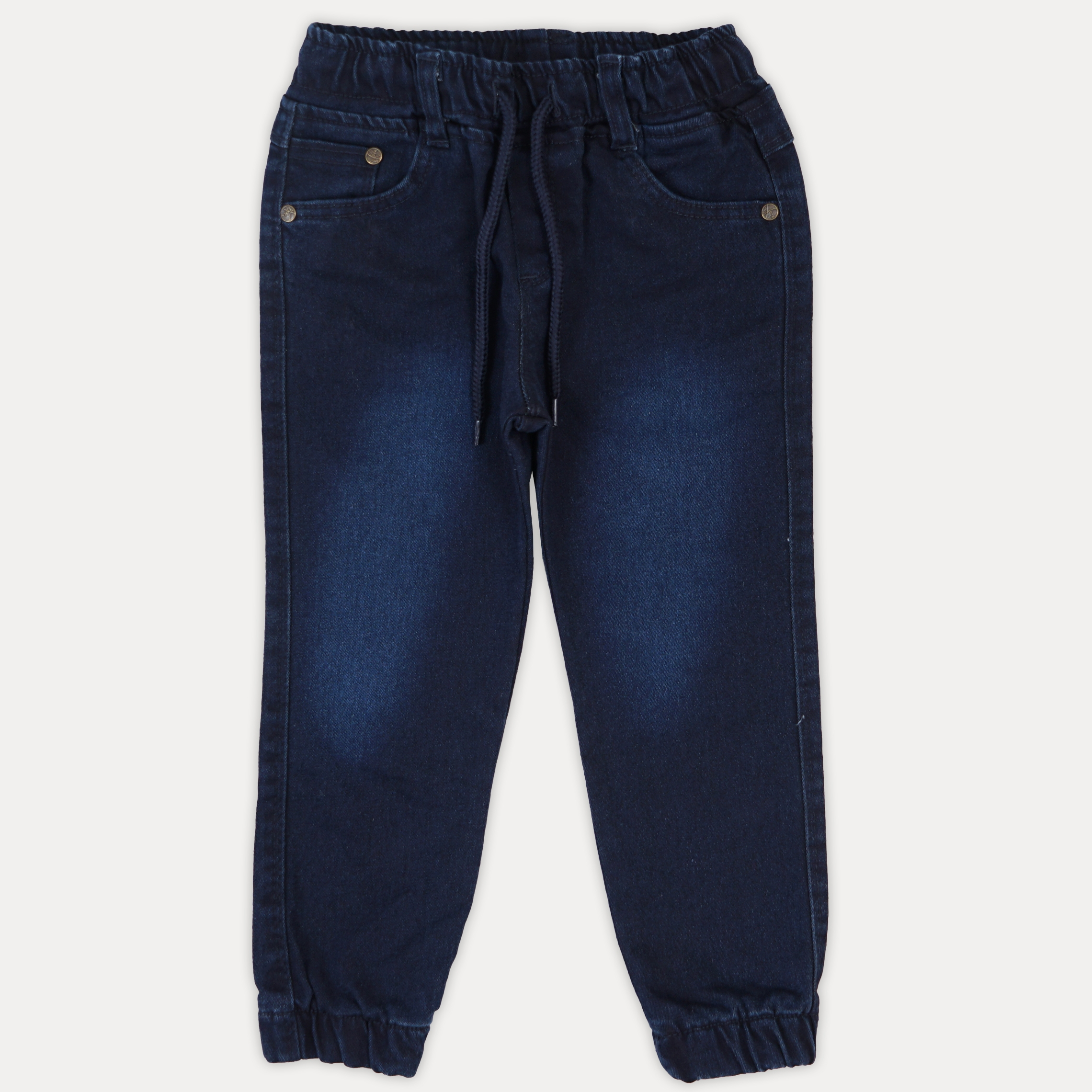 Однотонные модные синие джинсы для мальчика