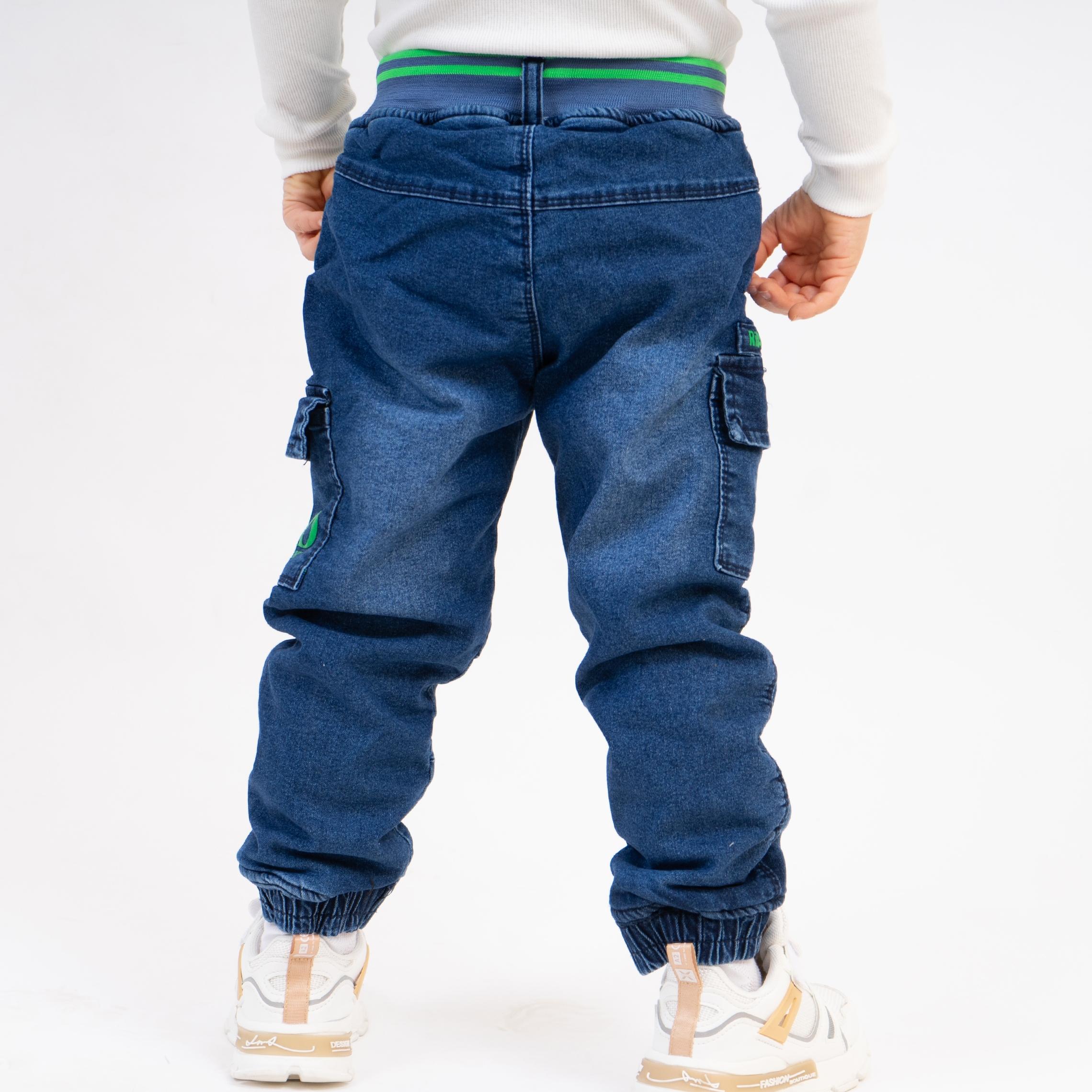 Модные джинсы на меху для мальчика