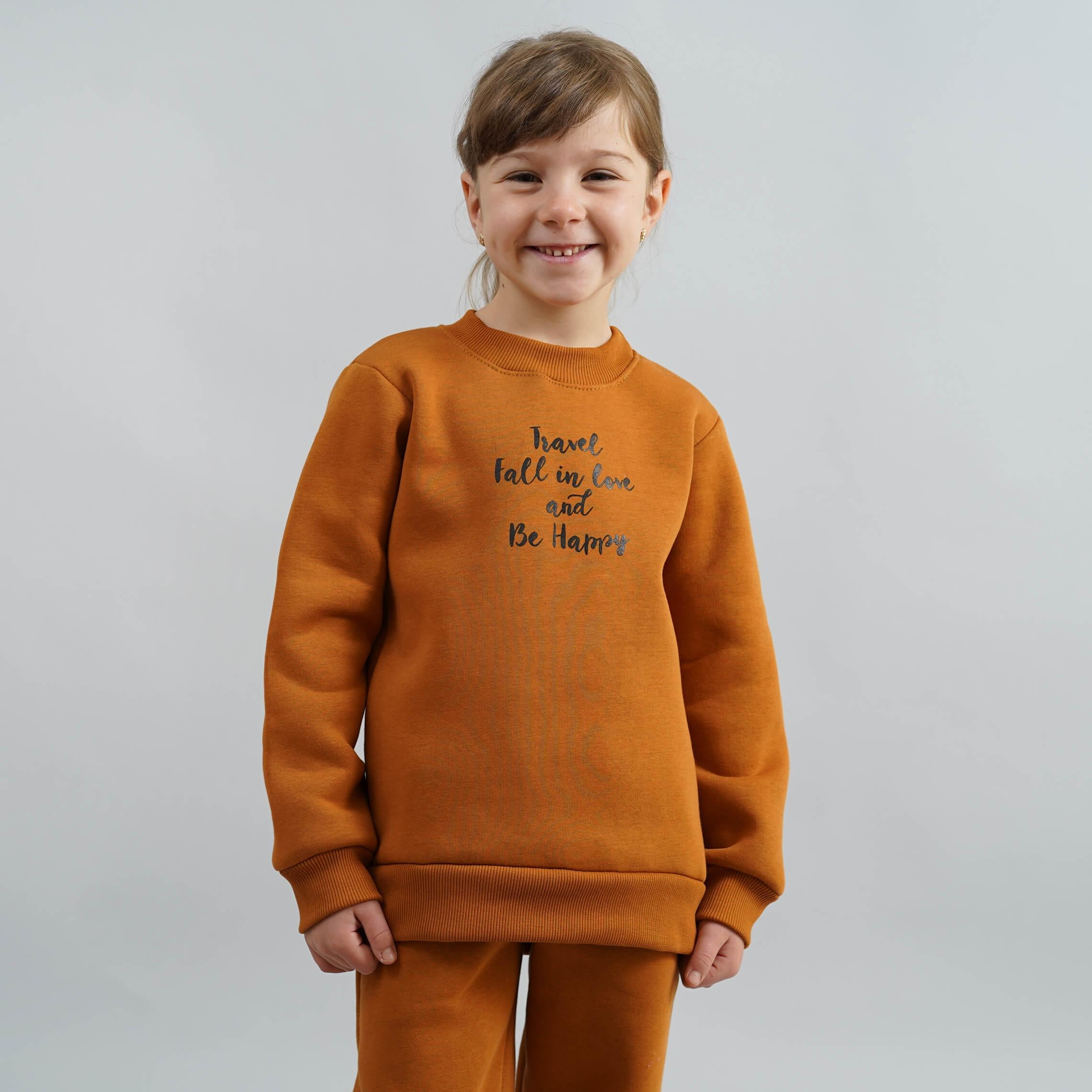 Стильный детский теплый джемпер на девочку