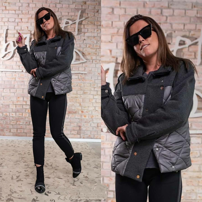 Классная женская куртка большого размера демисезон ...