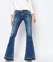 Носим джинсы клеш весной и летом 2015 правильно