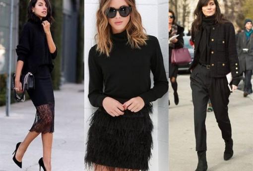 Total black look: как одеться во все черное и выглядеть стильно