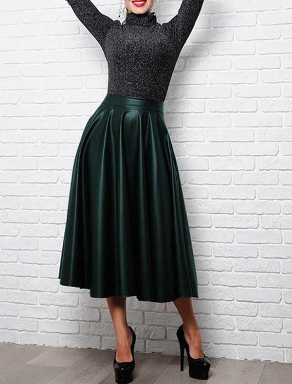 кожаные юбки, модные юбки