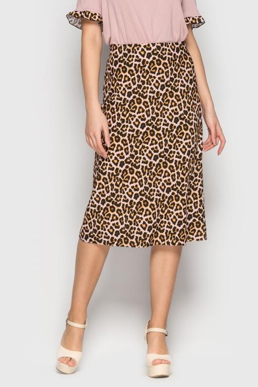 леопардовая юбка, женские юбки